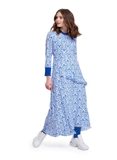 Mizalle Youth Elbise Mavi
